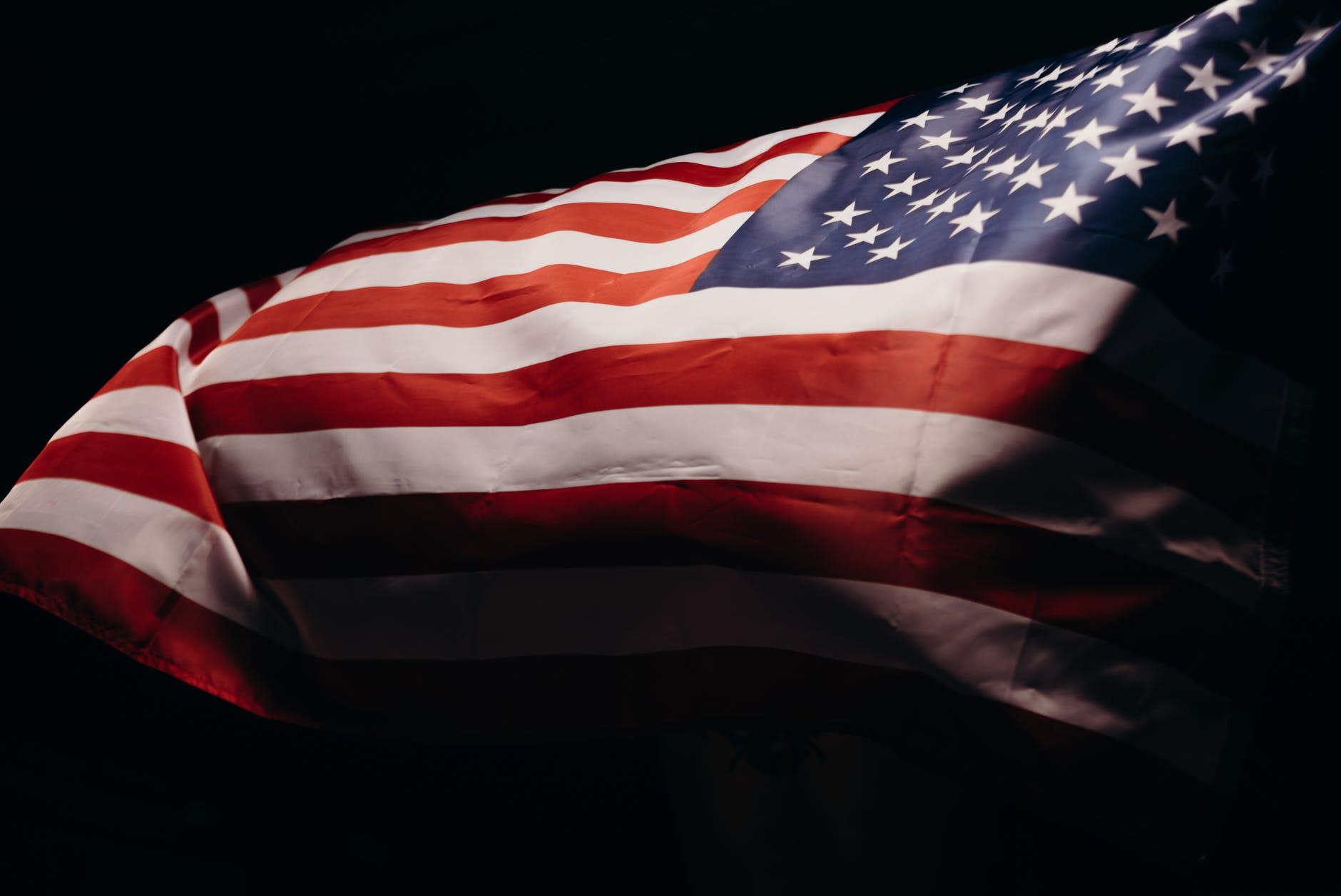 U.S.A. flag flying free