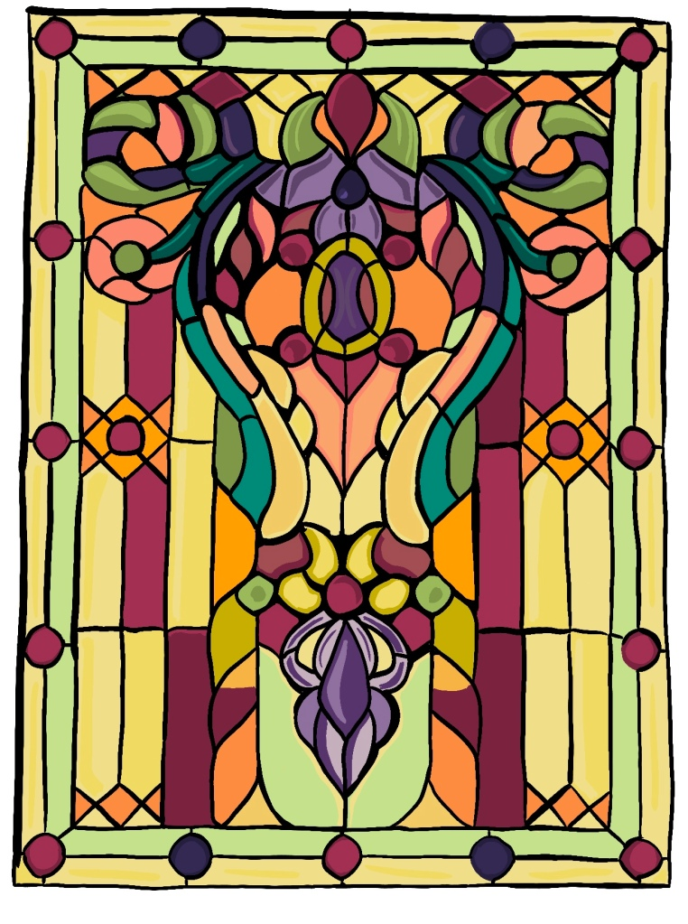 Stained Glass, digital painting, by Stacey K. Flatt